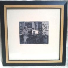 Arte: BOURGOU GRABADO PAPEL SUPER ALFA DE GUARRO, TIRADA 200 PLANCHA DESTRUIDA. MED. 31 X 31 CM. Lote 191189528