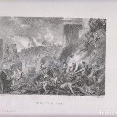 Arte: LITOGRAFÍA. HEROICO FIN DE NUMANCIA. 36,5 X 27 CM. 1871. SORIA. Lote 191223297