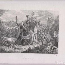 Arte: LITOGRAFÍA. BATALLA DE HÉLICE. 36,5 X 27 CM. 1871. Lote 191246797