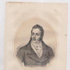 Arte: LITOGRAFÍA. CONDE DE TORENO. 25 X 16,5 CM. AÑO 1870. OVIEDO. ASTURIAS. Lote 191249278