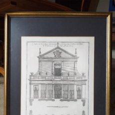 Arte: GRABADO ITALIANO DE ARQUITECTURA. ORIGINAL. AÑO 1721.. Lote 191262030