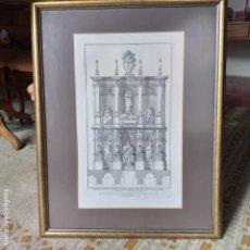 Arte: GRABADO ITALIANO DE ARQUITECTURA. ORIGINAL. AÑO 1721.. Lote 191262995