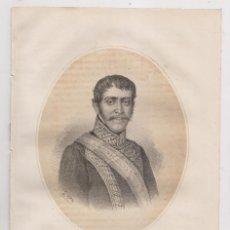 Arte: LITOGRAFÍA. 1870. D. CARLOS Mª ISIDRO DE BORBÓN (ARANJUEZ, 1788 - TRISTE, 1855). CARLISMO. Lote 191397815