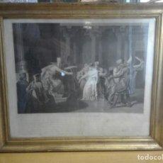 Arte: EL DESMAYO DE ESTER. GRABADO NEOCLÁSICO FRANCÉS FINALES DEL SIGLO XVIII. Lote 191449502