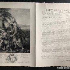 Arte: CARTA DE ESCLAVITUD. AL DULCÍSIMO NOMBRE DE JESÚS. GRABADO. AÑO 1914. . Lote 191621886