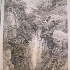 Arte: NAVEGANDO EN BALSA POR EL RÍO AMAZONAS (BRASIL), HACIA 1850. VANDER BURK. Lote 191645228