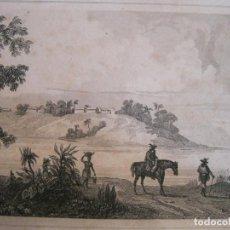 Arte: VISTA PANORÁMICA DE LA ISLA DE ITAMARACA ( PERNAMBUCO, BRASIL) HACIA 1850.DANVIN/CHOLET. Lote 191646762