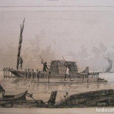 Arte: BALSAS DE MADERA (BRASIL), HACIA 1850. DANVIN/ALFRED. Lote 191656166