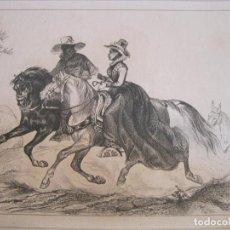 Arte: VIAJEROS POR TIERRAS DE RÍO GRANDE DO SUL (BRASIL), HACIA 1850. LALAISSE/LANGLOIS. Lote 191656283
