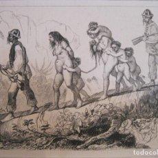 Arte: NATIVOS CIVILIZADOS TRAYENDO DE VUELTA A PRISIONEROS, HACIA 1850. DEBRET/CHAILLOT. Lote 191656448