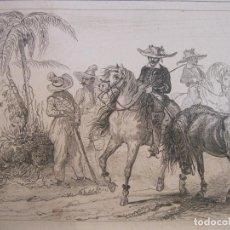 Arte: JINETES PAULISTAS, 1838. LALAISSE/CHAILLOT. Lote 191657448