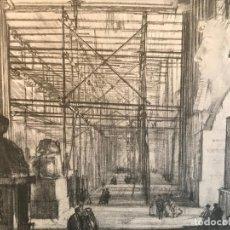 Arte: VISTA DEL INTERIOR DEL BRITISH MUSEUM DE LONDRES, 1906. MUIRHEAD BONE. Lote 191687708