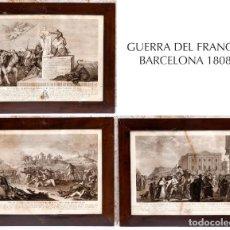 Arte: GUERRA DEL FRANCÉS - 1808 - BARCELONA - GRABADOS ORIGINALES DE ÉPOCA. Lote 191979588