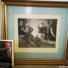 Arte: ERNESTO FURIÓ, LA ILUSTRE FREGONA, PREMIO NACIONAL 1947, AGUAFUERTE Y BURIL. FIRMADO Y NUMERADO. Lote 192066060