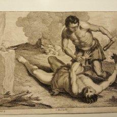Arte: CAIN Y ABEL. I.PALMA IUNIOR P. P.LISEBETIUS F. 1660. AGUAFUERTE DEL THEATRUM PICTORIUM DE D.TENIERS.. Lote 192272086