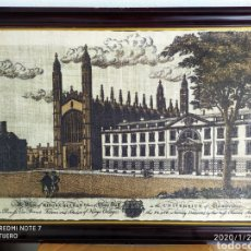 Arte: GRABADO SOBRE LIENZO DE LA UNIVERSIDAD DE CAMBRIDGE, ÚNICO EN VENTA, VER. Lote 192293580