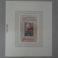 Arte: PUBLICIDAD SUIZA DE CHOCOLATE Y CACAO, HACIA 1900. ANÓNIMO. Lote 192450933
