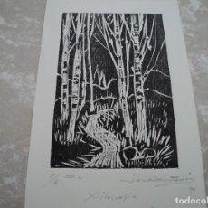 Arte: XILOGRAFIA DE JORDI BAIJET ACHON EL FINAL DEL BOSC 32 X 21 CM. Lote 192540398