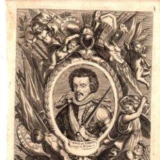 Arte: GRABADO CALCOGRAFICO CARLOS DE LORENA, DUQUE DE GUISA. SIGLO XVIII. Lote 192545400