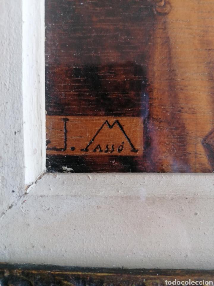 Arte: Grabado Sobre Madera J Masso 47x38cm - Foto 9 - 192555003