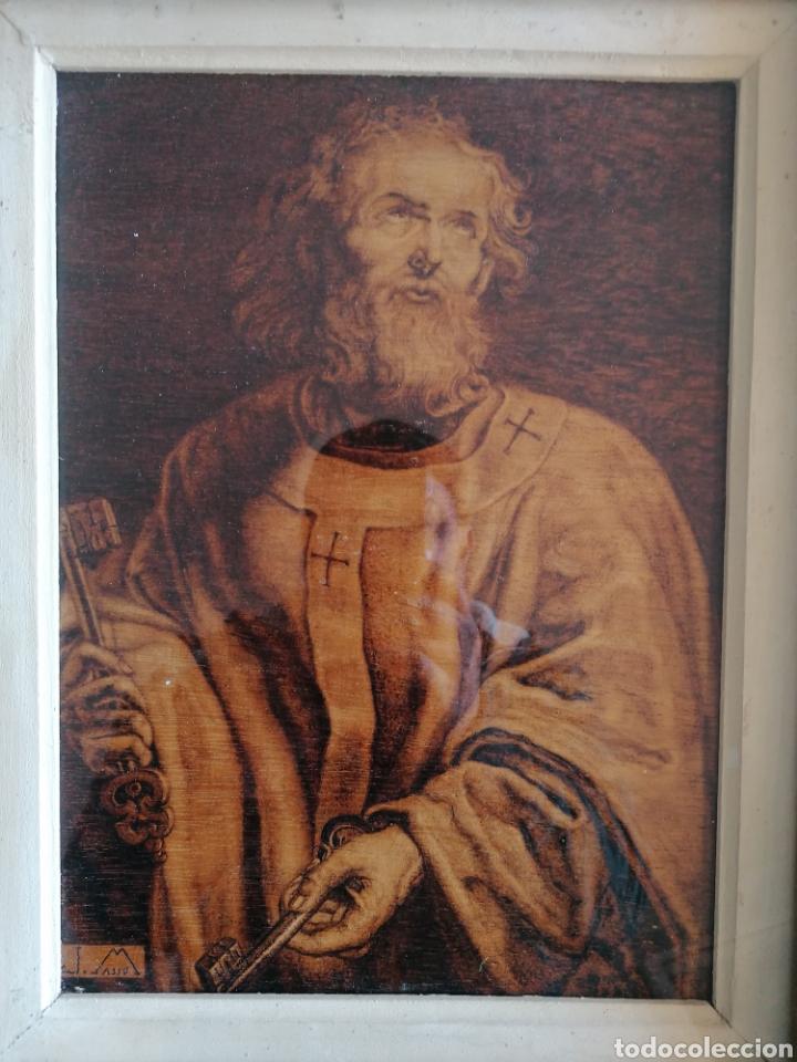 Arte: Grabado Sobre Madera J Masso 47x38cm - Foto 12 - 192555003