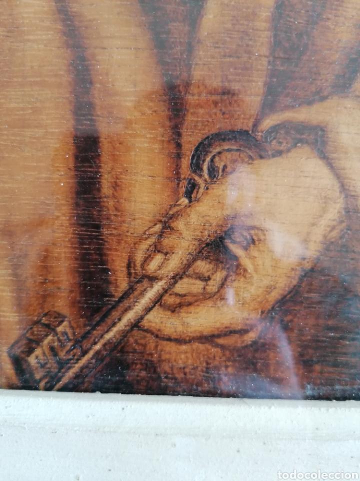 Arte: Grabado Sobre Madera J Masso 47x38cm - Foto 3 - 192555003