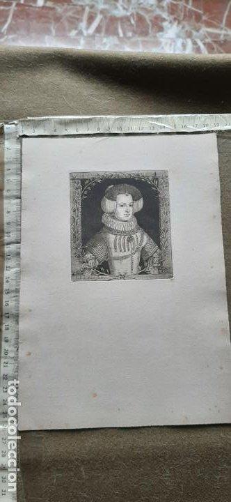 Arte: GRABADO DE ISABEL DE BORBÓN DE JUAN DE NOORT FECIT SIGLO XVII - Foto 2 - 192625178