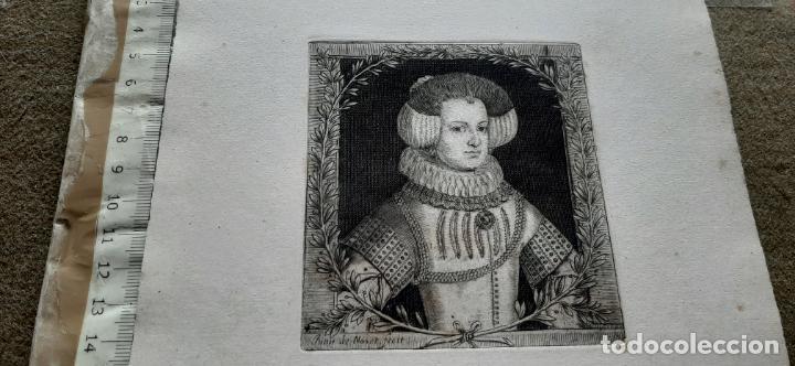 GRABADO DE ISABEL DE BORBÓN DE JUAN DE NOORT FECIT SIGLO XVII (Arte - Grabados - Antiguos hasta el siglo XVIII)