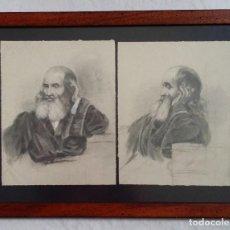 Arte: DIBUJOS, RETRATOS DE UN ANCIANO, 1880. Lote 192626702