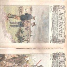 Arte: 1016. CATORCE PORTADAS DE LA REVISTA INFANTIL MON JOURNAL. 1897/1898. Lote 192634793