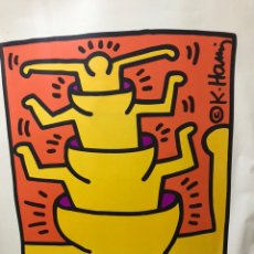 Arte: LEARNING THROUGH ART / GUGGENHEIM MUSEUM (C.1999) GRABADO, CARTEL, 78 X 63 CM KEITH HARING. Lote 192690133
