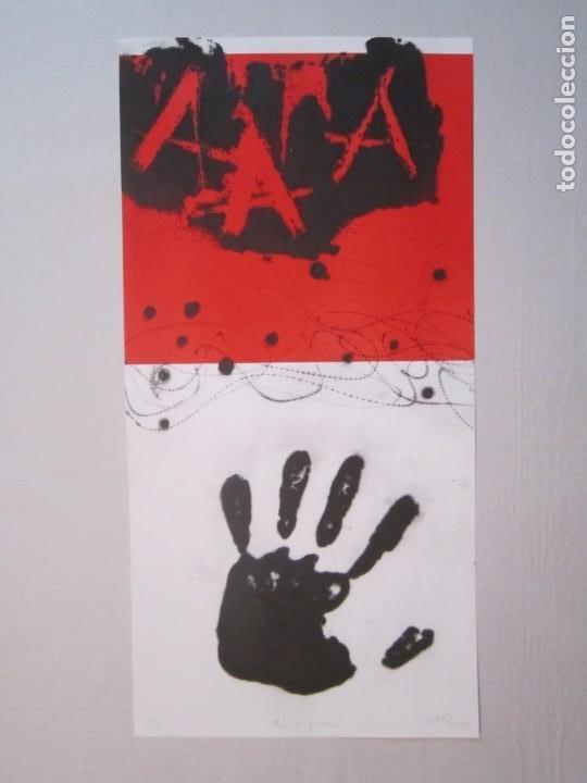 MÀ ESQUERRA (MANO IZQUIERDA) - GAP (GUILLERMO ANTÓN PARDO) - 27,5X48CM - PUNTA SECA Y CARBORUNDO (Arte - Grabados - Contemporáneos siglo XX)