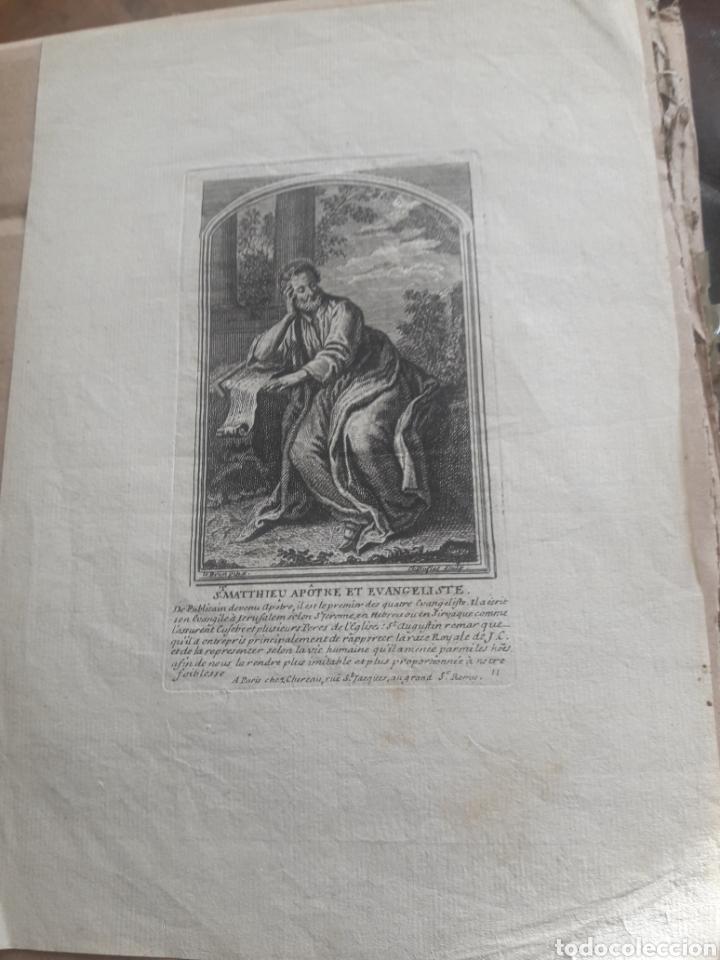ANTIGUO GRABADO DE SAN MATEO, CON MARCA DE AGUA (Arte - Grabados - Antiguos hasta el siglo XVIII)