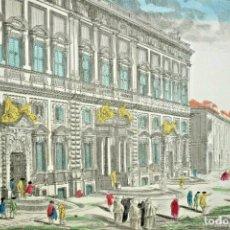 Arte: GRABADO DE LA VISTA DEL PALACIO DEL QUIRINAL EN ROMA. VISTA ÓPTICA DEL SIGLO XVIII. Lote 192804052