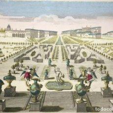 Arte: GRABADO DE LA VISTA Y PERSPECTIVA DEL PALACIO DUCAL Y EL JARDÍN DE VENECIA. SIGLO XVIII. Lote 192804602