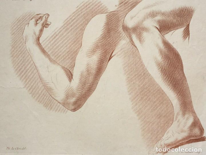 Arte: Grabado de un estudio de los Brazos. Francia. Siglo XVIII - Foto 2 - 192805386