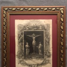 Arte: GRABADO. SSMO. CRISTO DE LA AGONÍA, VENERADO POR SU M.Y. COFRADÍA Y HERMANDAD EN SU CAPILLA.... Lote 192812782