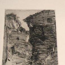 Arte: GRABADO DE JOAQUIN MIR TRINXET 1873-1940.. Lote 192821882