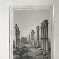 Arte: TEMPLO ROMANO DE NEPTUNO EN PALMIRA (SIRIA, ASIA), HACIA 1850. LAMAITRE. Lote 192868746