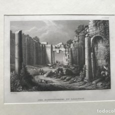 Arte: VISTA DE LAS RUINAS DE BAALBECK, EN EL LÍBANO (ASIA), HACIA 1850. REISS/METZEROHT. Lote 192870135