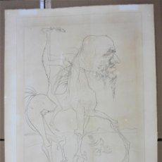Arte: GRABADO DE TEMÁTICA SURREALISTA CON PERSONAJE, 4 / 18 TIRAJE. DALÍ 90,5X62CM. Lote 192874597