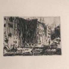 Arte: GRABADO DE JOAQUIN MIR TRINXET 1873-1940.. Lote 192907825