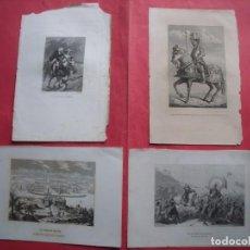 Arte: GRABADOS.-INUNDACIONES HOLANDA.-ARMADURA DE CARLOS V.-LOS ESPAÑOLES EN MEJICO.-MEJICO.-SIGLO XIX.. Lote 192911227