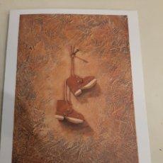 Arte: GRABADO ROMAY FIRMADO AUTOR REBOLO BELLAS ARTES LUGO FELICITACIÓN CON LOTERÍA NAVIDAD. Lote 192922467