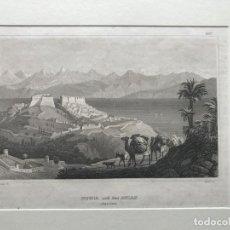 Arte: VISTA DE LA CIUDAD DE BUGIA EN ARGELIA (ÁFRICA), HACIA 1850. REISS/MARTINI. Lote 192958833