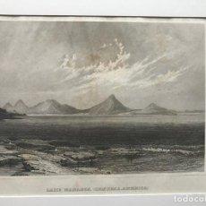 Arte: VISTA DEL LAGO DE MANAGUA, NICARAGUA (AMÉRICA DEL CENTRO), 1860. MEYER. Lote 192959677