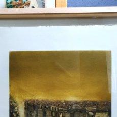 Arte: PACO AGUILAR, PRECIOSO Y GRAN GRABADO, PETRA, NUMERADO Y FIRMADO.. Lote 192960396