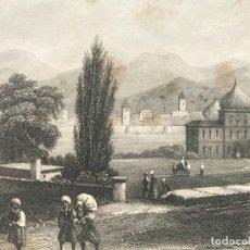 Arte: VISTA PANORÁMICA DE SIRAZ EN IRÁN (ASIA), 1860. ANÓNIMO. Lote 192962771