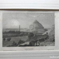 Arte: VISTA PANORÁMICA DE LA CIUDAD DE DOWLUTABAD EN LA INDIA (ASIA), 1840. INSTITUT IN HIDBURGHANSEN.. Lote 192968970