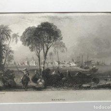 Arte: VISTA DE LA ANTIGUA CIUDAD DE BATAVIA, YAKARTA (JAVA, INDONESIA, ASIA), 1858. REISS/WALLIS/MEYER. Lote 192973252